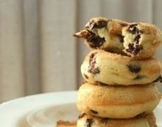 Banana Chocolate Chip Baked Doughnuts