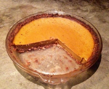 Gluten Free Pumpkin Pie w/Pecan Crust (Low Carb)