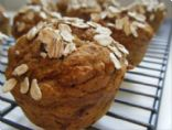 FANNETASTIC FOOD'S Healthy Whole Wheat Pumpkin Raisin Muffins