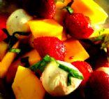 Caprese fruit salad