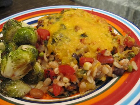 Vegetable & Barley Casserole