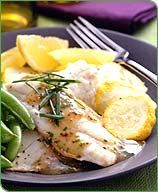 Lemon-Chive Sole with Baked Squash