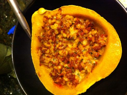 Chorizo-Stuffed Acorn Squash Recipe