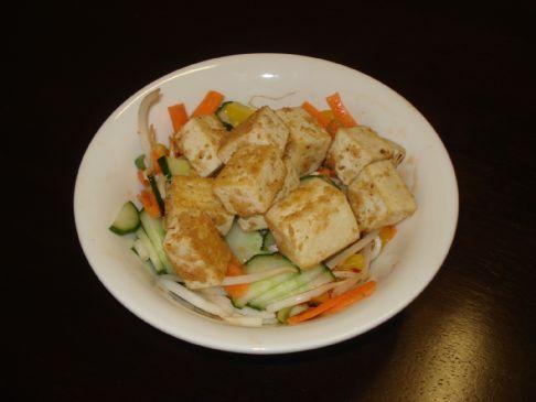 Tofu with Sweet Chilli Salad