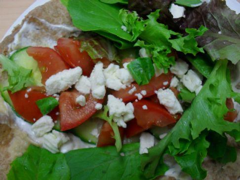 Greek Veggie Wrap