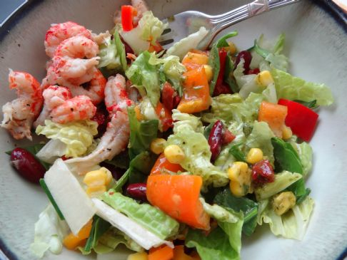 Leftover-Crawfish-Boil Salad