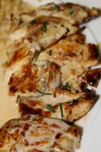 Chicken Breasts with Rosemary Cream Sauce