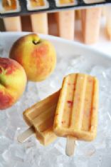 Peach Pie Popsicles