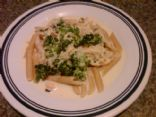 Penne in a white cream sauce with crab!