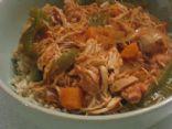 Crockpot Chicken Ropa Vieja