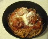 Spaghettini with Turkey-Mushroom Meatballs