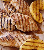 Spicy Honey-Glazed Chicken Breasts w/ Grilled Pineapple