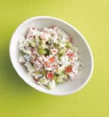 Creamy Cucumber, Tomato and Avocado Salad