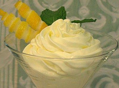 Lemon Mousse 1/2 cup