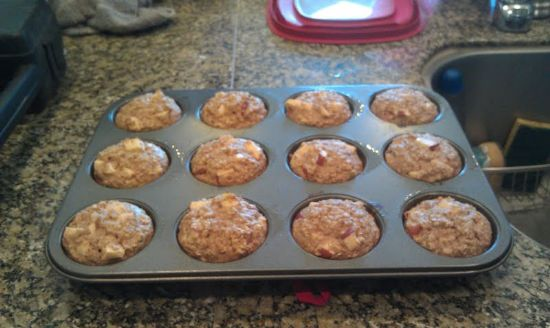 Apple Cinnamon Protein Muffins (from Little B)