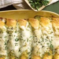 Mild Green Chile & Creamy Chicken Enchiladas