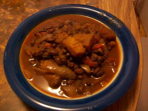 Black bean and butternut squash chilli