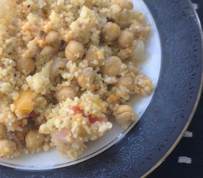 lemon couscous with chickpeas Recipe | SparkRecipes