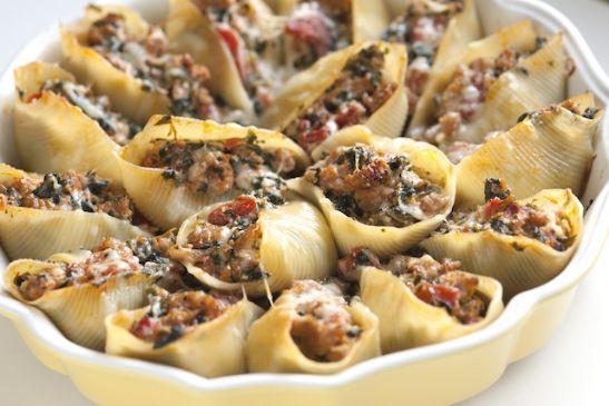 Sausage Stuff Pasta Shells