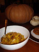 Pumpkin, Corn, Sausage Chowder