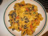 Black Bean and Veggie Nacho Bake