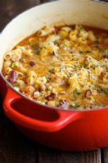 Vegetarian One Pot Chili Mac & Cheese
