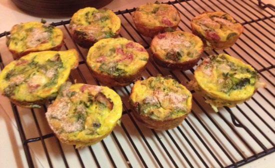 3 Veggie Sausage Egg Muffins