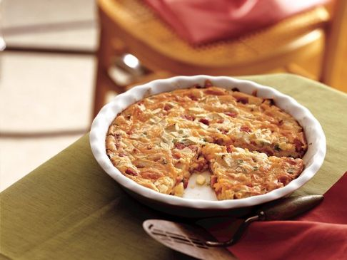 Betty Crocker's Impossibly Easy Ham and Cheddar Pie
