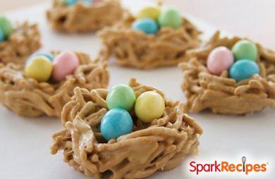 Crunchy Peanut Butter Nests
