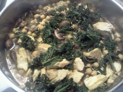 Sasha's Kale and chicken love soup