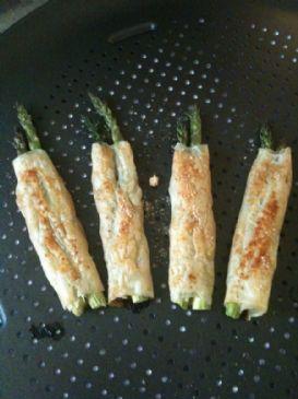 Like Paula Deen's Phyllo Wrapped Asparagus but healthier