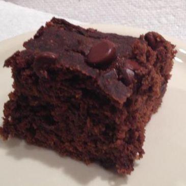 Chocolate zucchini cake with cocoa