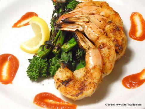 HCG Phase 2 - Grilled Shrimp and Raab
