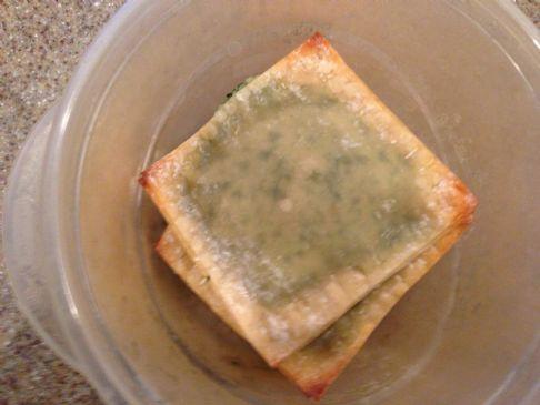 Spinach Wonton Ravioli