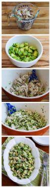 Chicken Celantro Avacoado Salad (about 1.5 cup per serv)