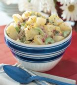 potato salad 'diakon' dairy free, low carb