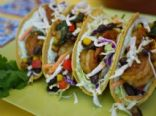 Adobo Shrimp Tacos with Avocado Cream Sauce