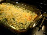 Spinach Ricotta Crustless Quiche