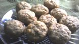 Banana nutmeg muffins - 1 mini muffin