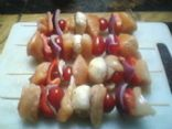 Chicken, Shrimp, and Pepper Skewers