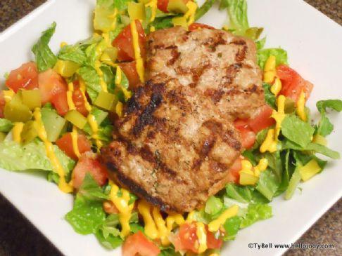 HCG Phase 2 - Veal Hamburger Salad