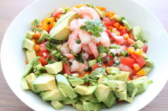 Shrimp �Grok-amole� Salad