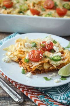 Mexican Chicken Chilaquiles Casserole