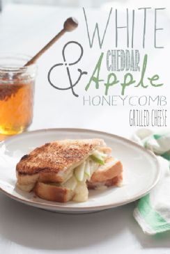 White cheddar apple and honey grilled cheese
