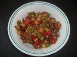 Quinoa, chickpea and feta salad