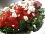 Shiratake and Spinach and Marinara