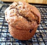 Low-Fat, Low-Sugar, lactose Free  Bannana Raisin Muffins