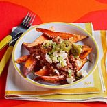Mole-Topped Sweet Potatoes