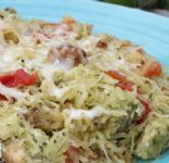 Spaghetti Squash with Chicken and Pesto