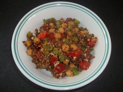 Quinoa, chickpea and feta salad